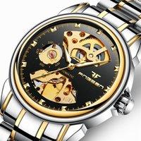 Couple Watch Men's Automatic Mechanical Watches Business Double-Side Hollow Women's Wrist 30M Waterproof Tourbillon Clock Wristwatches