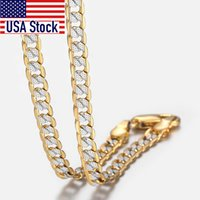 Trendsmax Gold Chain Necklace Men Women Cuban Link Chain Male Necklace Fashion Men's Jewelry Gifts 4mm GN64
