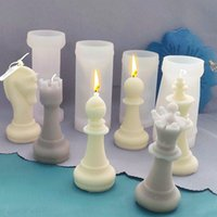 Craft Tools DIY Candle Silicone Chess Mold Resin Molds Creative 6 Pcs Set Of Chocolate Baking Utensils Home Soap Making Kit Decoration