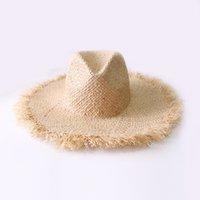 الصيف بسيط الصلبة اللون اليدوية نسج raffia القبعات الشمس للنساء الدانتيل يصل حجم كبير حافة القش قبعة في الهواء الطلق شاطئ قبعات الصيف