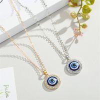 Cristal Turco Cristal Olhos Malidos Colar Pingente Para Mulheres Jóias Cor de Ouro Clavícula Chapas Colares Habqq Huqzm 718 Q2