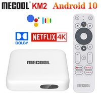 Mecool KM2 DDR4 Google Certifié AMLOGIC S905X2 Android 10 TV Box Support Netflix 4K Dolby Dolby Dual WiFi Prime Video Prime