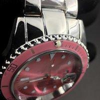 Luxusuhr Watch ساعة عملية كاجوال للرجال موضة Datejust Pink Dial الفولاذ المقاوم للصدأ حزام الكوارتز الحركة التلقائي التقويم
