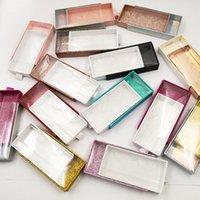 Wholesale Colorful Square Pvc Drawer Case Empty Eyelashes box Mink False Eyelash Packaging Logo Glitter Paper Make Up