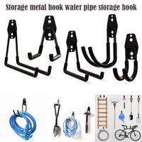 Heavy Duty Gancio in metallo Garage Organizzatore A Parete A Ganci Bicicletta Ganci A Ganci Anti-slip per scale Giardino Tool Rails