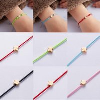 Charm Bracelets Jewelry 18K Gold Plated Leather Heart Round Cross Crown Star Charms Korean Jewelry Womens Rope Chain Bracelet Gift With Reta