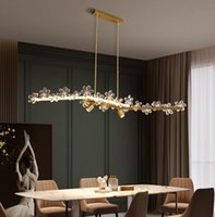 Modern crystal chandeliers dining classic industrial loft chandelier lighting bedroom brass lights crystal lustre for kitchen