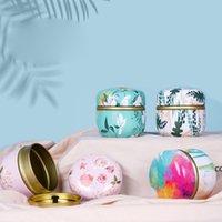 Cajas de almacenamiento de caddie de té redondo latas tuercas nueces bocadillos sellados jar Empacaje caja DHB7689
