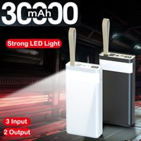 QC3.0 Type C Power Bank 30000 MAH Portable Chargement rapide Poverbank LED Camping Light