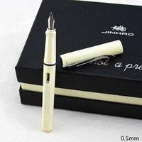 Jinhao599a Fountain Pen Ink Transparent Plastic Pluma Stylo Plume Vulpen Stilografica Student Stationery Gift Optional