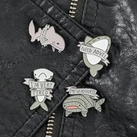 Ocean Animal Whale Dolphin Cowboy Pins Cute Shark Shape Letter Broohces Alloy Enamel Backpack Hats Collar Badge Jewelry Accessories Wholesale