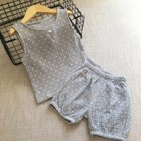 2020 Baby Boys Conjunto de roupas de verão Crianças de manga curta Vest + shorts 2 pcs ternos crianças conjuntos de roupas 70 90 100 110 1201 757 Y2