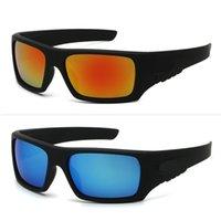 Gafas de sol deportivas frescas para hombres y mujeres ciclismo gafas con logo lentes de espejo UV400 7 colores Lentes al por mayor 9366