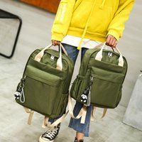 Schoolbag Female Korean New Version The Oxford Style Small Fresh Backpack College Of Cloth Travel Handbag Isnao