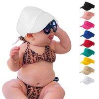 الأطفال الصيف في الهواء الطلق قابل للتعديل قبعات البيسبول الطفل الصلبة اللون فارغة أعلى ظلة قبعة عارضة السفر الشاطئ لقبعات الطفل جوفاء قناع g69mcyo