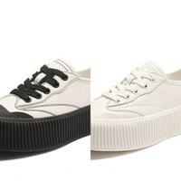 أحذية عادية 2021 ربيع جديد جلد عارضة أبيض صغير المرأة كلية الرياح سميكة سوليد الطلاب واحد kqqn