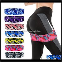 Bands Sports & Outdoors Drop Delivery 2021 Yoga With Pull Ring Hip Squat Fitness Resistance Elastic Supplies E4Rtu
