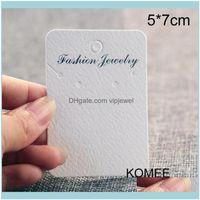 علامات السعر، Jewelry200pcs 5x7cm حامل القرط قلادة عرض بطاقة التعبئة والتغليف للمجوهرات انخفاض التسليم 2021 lcppo