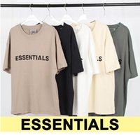 21SS Hip Hop Angst vor Gott T-Shirts Vordere Essentials Tops 3D Silikon T-Stück Skateboard T-shirt Nebel Männer Frauen Kurzarm Casual T-Shirt