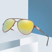 69% Off 2021 Vintage Polarize Güneş Erkekler Marka Tasarımcısı Retro Pilot Güneş Gözlükleri Kadın Sürüş Sunglass Shades UV400 Gafas de Sol LW92