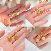 With BOX Fashion brand F300 Butterfly Stud Earrings Women Jewelry Hottest Gift in SUMMER