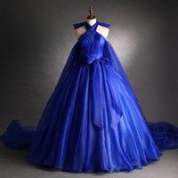 Royal Blue Trail Court Coronation Dress Dress Lungo Bingering Medieval Rinascimento Victoria Abito Abito / Evento