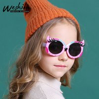 2021 키즈 선글라스 편광 된 만화 귀여운 여우 태양 안경 어린이 Tac 안경 수지 유연한 안전 프레임 음영 UV400