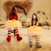 US Lager Swedish Santa Gnome Plüsch Handgemacht skandinavisch Tomte Home Haushalt ELF Zwergschmuck mit LED Weihnachten Santa Dekoration