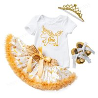Girl's Dresses Baby Girls 1st Birthday Outfit Romper Tutu Skirt Outfits Clothing Princess Pageant Wedding Party