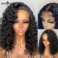 Lace Wigs Bob Wig Front Human Hair 180 Density Short Curly For Black Women 4x4 Closure Preplucked
