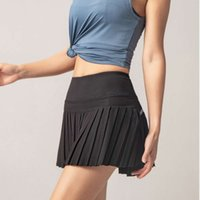 Lulu new women's Yoga Sports skirt outdoor fitness running fast dry anti light lined shorts dk09