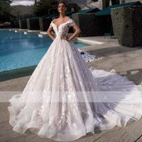 2021 New Romantic Sweetheart Neck Lace Up Ball Gown Wedding Dress Gorgeous Appliques Beading Customized Princess Bridal Gown