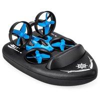 Mini Drone Barco Car Barro Água Air 3-Modo 2.4G 4CH 6-Eixo Velocidade 3D Flip Modo sem cabeça RTF RC Toy Donças
