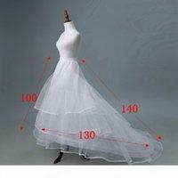 Plus Size 2 Hoops Petticoat Two Ring Underskirt for Wedding Dress Big Puffy Crinoline 2 Layers Slip for Women Bone Trailing Petticoats