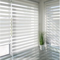100% Polyester Zebra Window Curtains Adjustable Roller Shade Indoor Blinds