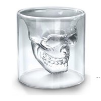 25ML Wine Cup Skull Glass Shot Glass Beer Whiskey Halloween Decoration Creative Party Transparent Drinkware Drinking Glasses EWA5680