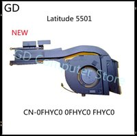 Fans & Coolings GD Original For Latitude 5501 Laptop Heatsink With Fan CN-0FHYC0 0FHYC0 FHYC0 Full Tested Fast