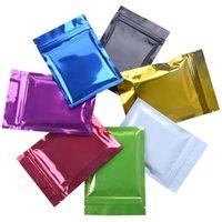 Sacos Embalagem Escola Escola Business Industrial100pcs Lote 9 * 13cm Limpar Front De Alumínio Colorido Folha De Alumínio Bloqueio Bolsa De Embalagem Mylar Plástico Zi