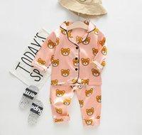 Pijamas de bebê conjuntos verão outono crianças pijamas dos desenhos animados para meninas meninos sleepwear de mangas curtas terno de mangas compridas de algodão nightwear crianças roupas