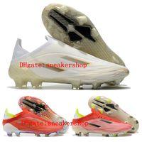 2021 Yeni Varış Erkek Futbol Çizmeler X Speedflow FG Futbol Ayakkabıları Açık Cleats Çekirdek Siyah Güneş Kırmızı 20 Scarpe da Calcio