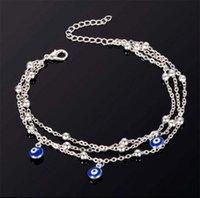 High 2 Style Eyes Turkish Beads Toklets Para Mujer Sandalias Pulseras Tobilleras Mujeres Pendientes Pulsera Pulsera Pies Summer Beach Jewelry 662 T2