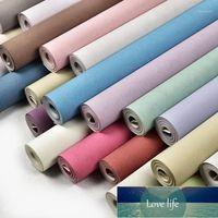 Decor Wallpapers Home Modern Solid Color Silk Wallpaper Non Woven Wall Paper Rolls Decorative Bedroom Wallpaper Green Blue1