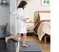 Diatom de lama absorvente almofada banheiro antiderrapante piso pé matemática casa seca seca estação de entrada wc