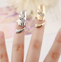 Crystal Dragonfly Nail Rings Retro Queen Band Rings Jewelry Exquisite Cute Gold Silver Animal Rings Jewelry wjl4778