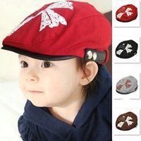 3pcs bébé béret godet chapeau enfants filles coréennes à quatre feuilles bouchon de bouchon classique classique loisirs chapeaux chapeaux enfants boutiques accessoires de cheveux