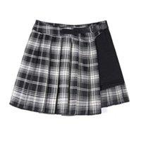 Skirts Women's Summer Pleated Short Skirt High Waist Thin Buttocks All Match Lattice Irregular