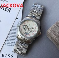 44mm Day-Date Quartz Watch Men Multi Functional high quality Full Fine Solid Stainless Steel Mens Racing Double Calendar Chronograph Watches