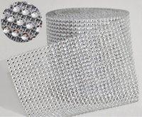 "10yard roll 4.75"" 24 Rows manmade Diamond Mesh yards wrap Rhinestone Ribbon Crystal trim Wrap sparkle bling ribbon Wedding Decoration"