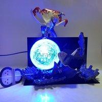 Naruto Action Figure Minato vs Obito Rasengan LED Light Scene Toy Anime Naruto Shippuden Figurine Uchiha Obito Model Speelgoed Gift X0522