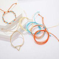 6Pcs Sets Colorful Rainbow Color Mix Braid Bracelets Women Girls Jewelry Gift DIY Charm Handmade Rope Bangles Random